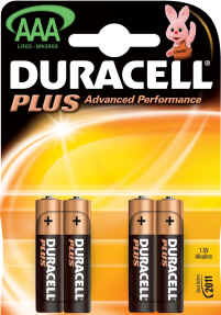 Duracell Plus AAA MN2400 Battery